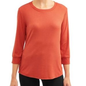 Women's 3/4 Rib Sleeve Top